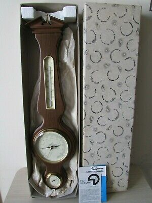 "Metamec 20"" Banjo Barometer / Hygrometer, Made In England, German Movement."