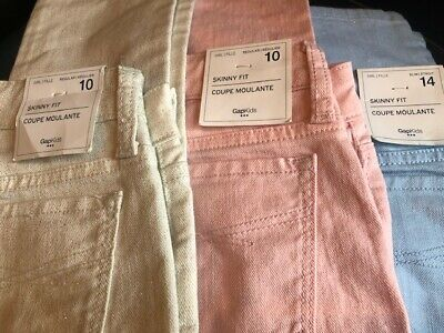 Gap Kids Girls Glitter Wash Skinny Fit Jeans 3 Colors - New With Tags-Free Ship