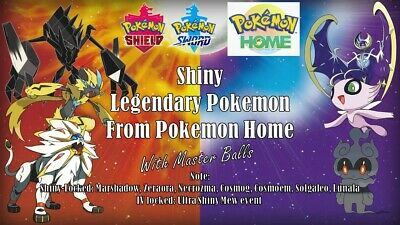 6IV Shiny or Nonshiny Legendaries Pokemon Sword and Shield Pokemon Home Bundles