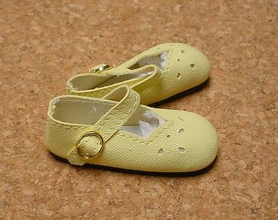 """Doll Shoes 7 1//2/"""" Ginny 25mm YELLOW Splendid Ankle Strap fit Kish Riley"""