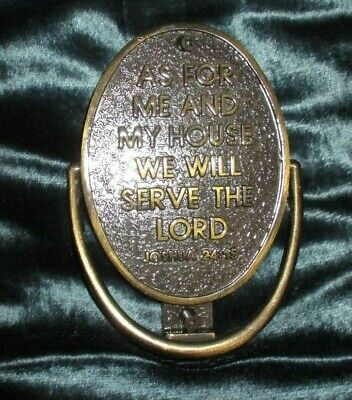 """""""AS FOR ME AND MY HOUSE WE WILL SERVE THE LORD"""" Joshua 24:15 Metal Door Knocker"""