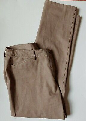 Chicos So Slimming Pants Womens Size 2.5 Large 14 Tan Brown Stretch