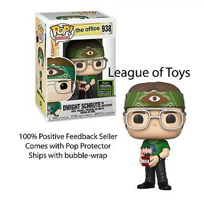 Funko Pop RECYCLOPS DWIGHT SCHRUTE OFFICE ECCC Shared Preorder + 0.5mm Protector
