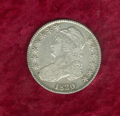 1830 (Small 0) Capped Bust Half Dollar in Very Fine