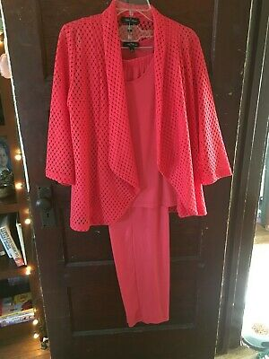 Slinky Brand Women's Medium Coral 3-Piece Outfit