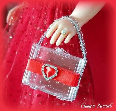 Madame Alexander Cissy Doll Vintage Style Crystal Iced Out Lucite Purse