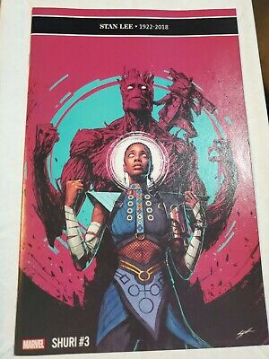 SHURI #3 STAN LEE TRIBUTE STANDARD COVER STOCK IMAGE