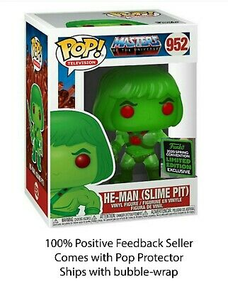 Funko Pop HE-MAN Slime Pit MOTU ECCC *Shared* SPRING EXCLUSIVE + 0.5mm Protector