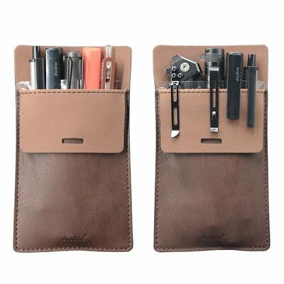 Pocket Protector Leather Pen Pouch Holder Organizer for  Lab Coats 2 Per Pack