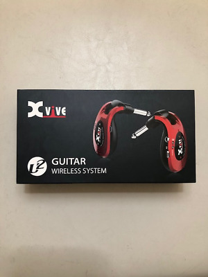 Xvive U2 Digital Wireless System Electric Guitar Stage Transmitter Receiver Red