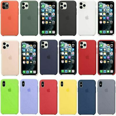 Originale Silicone Sottile Custodia Cover Per iPhone XS 11 Pro MAX XR 8 7/6 Plus