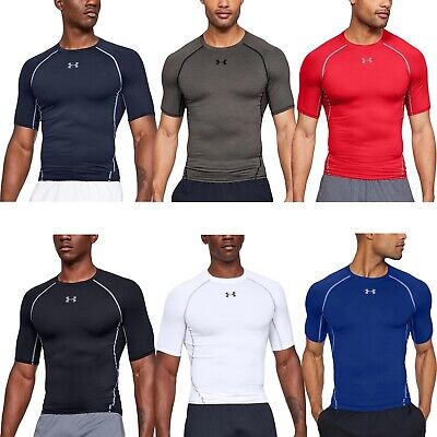 Under Armour UA Mens HeatGear Compression Short Sleeve Gym Fitness T-Shirt Top