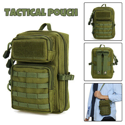 Tactical Molle Pouch Belt Waist Pack Bag Shoulder Bag Phone Camp Hiking Military
