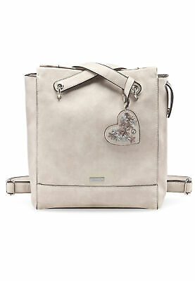 TAMARIS TASCHE MILLA Backpack Schultertasche Grau Light Grey