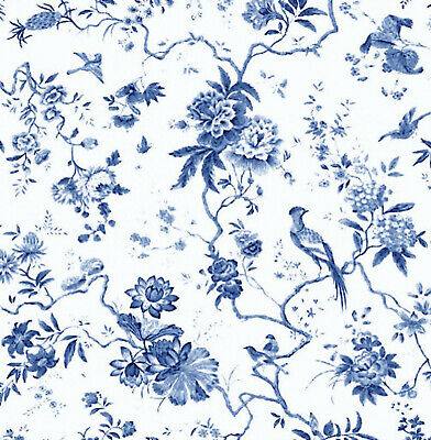 Dolls House Wallpaper 1/12th 1/24th scale Blue Quality Paper #104