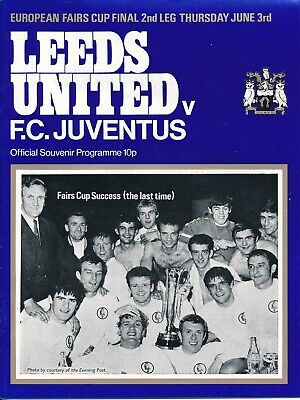 FAIRS CUP FINAL 1971 Leeds United v Juventus