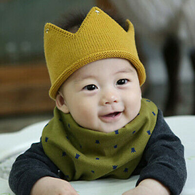 EE_ Newborn Toddler Baby Boy Girls Sweet Soft Knit Crown Hat Cap Headwear Reliab