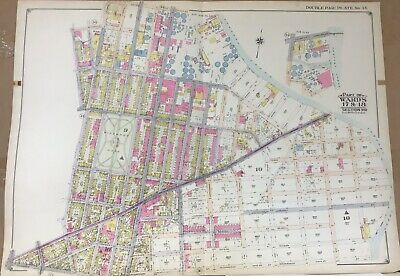 Map of Brooklyn, Greenpoint, Winthrop McGolrick Park, Norman Ave Meeker, 1916
