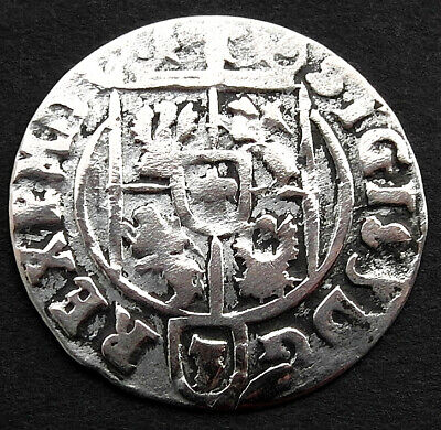 A genuine medieval silvered coin VF