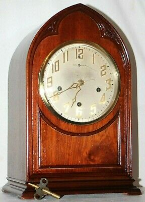 "Antique New Haven ""Inglewood"" Model Westminster Gothic Beehive Clock. No Reserve"
