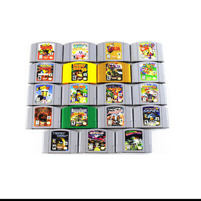 (Lot of 19) Nintendo 64 N64 Video Games Collection Cartridges Only (0303)