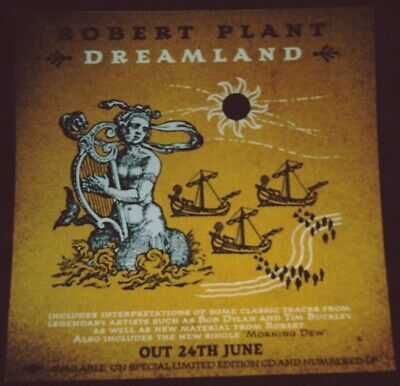 "ROBERT PLANT Dreamland/Morning Dew RARE UK In Store Promo Display 12"" x 12"" Flat"