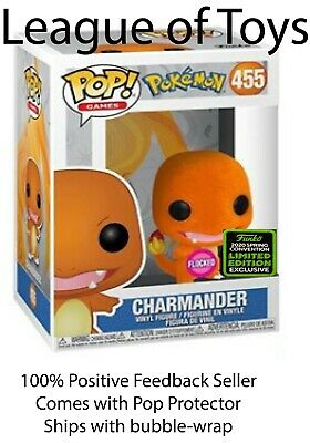 Funko Pop Charmander FLOCKED ECCC Shared Exclusive Preorder + 0.5mm Protector