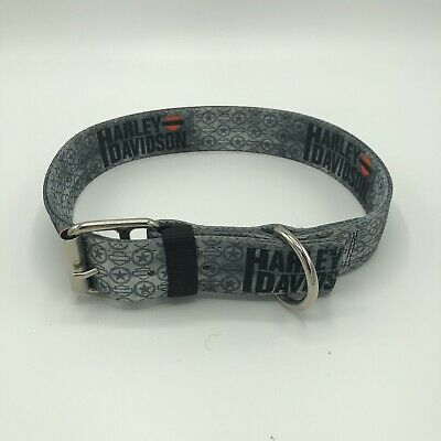 "Harley-Davidson 27""Dog Collar 2""stainless steel Buckle & D Ring Heavy Duty Nylon"