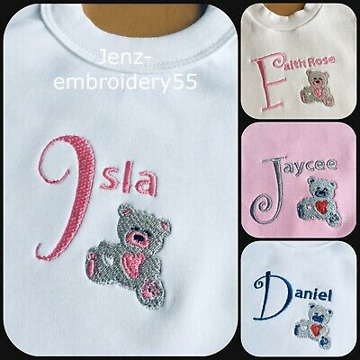 ANY NAME//TEXT// EDGE COLOUR BOXER BOXING PERSONALISED BABY BABIES BIB GIFT !