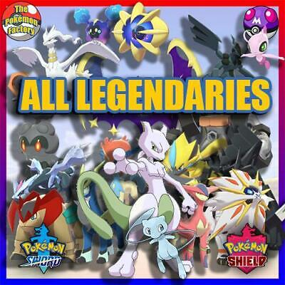 Pokemon Sword and Shield HOME | All Shiny Legendaries | 6IV | FAST DELIVERY