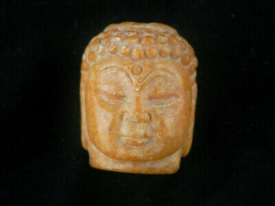 Good Quality Chinese Jade Hand Carved *Buddha's Head* Pendant L072