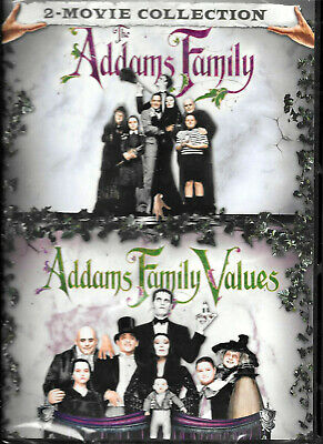 THE ADAMS FAMILY (1991) & ADDAMS FAMILY VALUES (1993) PART 1 & 2 NEW DVD Set!