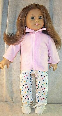 Pink Shirt Dot Leggings fits 18 inch American Girl Doll Clothes Fleece Vest