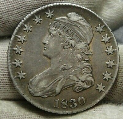 1830 Capped Bust Half Dollar - 50 Cents .Nice Coin .. Free Shipping  (9157)