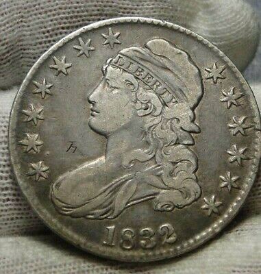 1832 Capped Bust Half Dollar 50 Cents - Nice Coin.. Free Shipping  (9158)