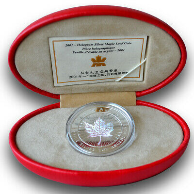 CANADA $5 2001 Maple of Good Fortune 1 oz. Pure Silver Hologram Coin