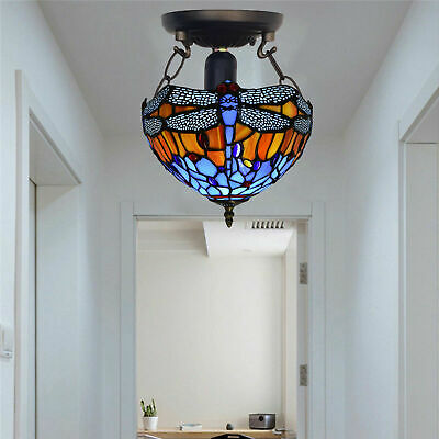 TIFFANY Antique Design Style Hand Crafted Home Decor Ceiling Lamp Light Shade UK