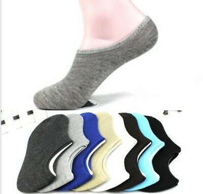 3/5Pairs women Men Cotton Loafer Boat Non-Slip Invisible Low Cut No-Show Socks