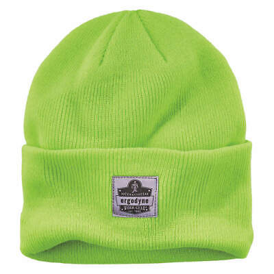 N-FERNO BY ERGODYNE Acrylic Knit Cap,Over The Head,Universal,Lime, 6806, Lime