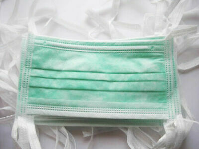 Virus Protection Disposable Surgical Face Mask, Blue - 100 Pieces Free Shipping