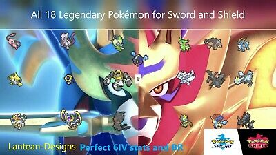 6IV LEGENDARY Shiny or Non-Shiny Pokemon 22 Bundle for Sword & Shield - Switch -