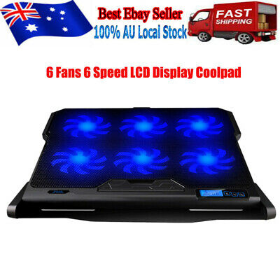 """Laptop Cooler Pad USB 6 Fans Coolers Radiator Cooling Stand for 7""""-15.6"""" Laptop"""