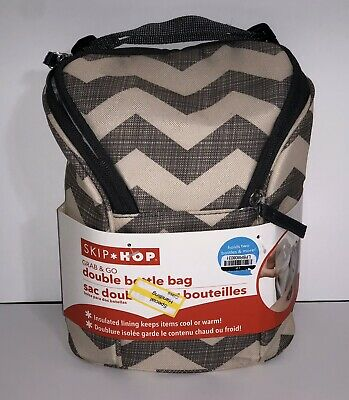 Skip Hop Grab & Go Double Bottle Bag, Zig Zag NEW Free shipping