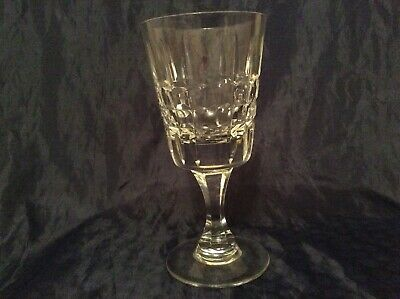 """Royal Brierley Crystal Dorchester Cut Wine Glass / Water Goblet 7"""""""