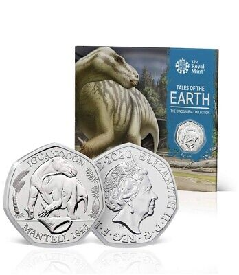 Dinosaur Iguanodon 50p 2020 Fifty Pence Coin BU BUNC Royal Mint Sealed Pack