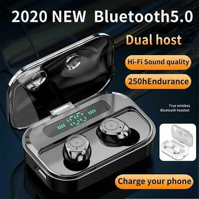 M7S TWS Wireless Bluetooth 5.0 Headset Mini Earbuds with Charging Case - Black