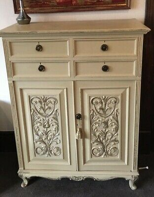 Vintage Hand Painted Press Wardrobe Armoire