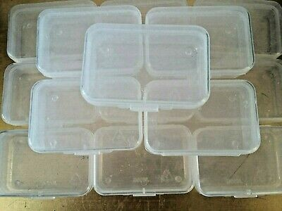 15 PCS Small Transparent Plastic Storage Box Clear Beads - Multipurpose - Coins