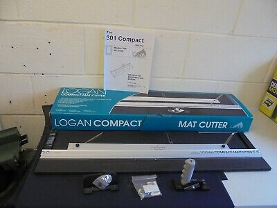 Logan 301-S Compact Bevel And Straight Mat / Mount Cutter  & Handbook.