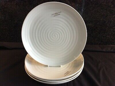 """Sophie Conran Portmeirion 4 X Coupe 10.5"""" Dinner Plates White New"""